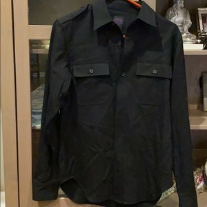 New without Tags Long Sleeve Black Button Down